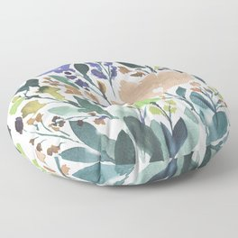 hand painted flowers_2b Floor Pillow