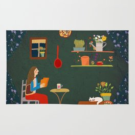 No place like home- Illustration Rug