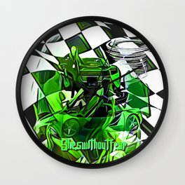 Fearless Finish Wall Clock