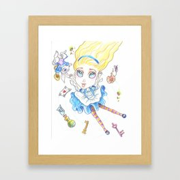 Alice In Wonderland Again Framed Art Print
