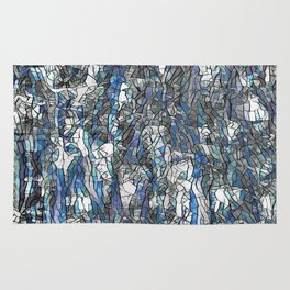 Abstract blue 2 Rug