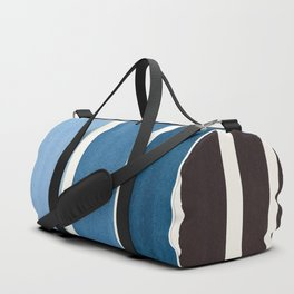 Navy Blue Minimalist Mid Century Modern Color Fields Ombre Watercolor Staggered Squares Duffle Bag