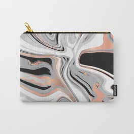 Liquid Marble with Copper Lines 015 Carry-All Pouch