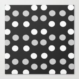 Rough Polka Dot Pattern Canvas Print