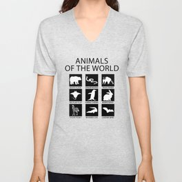 RARE ANIMALS OF THE WORLD Unisex V-Neck
