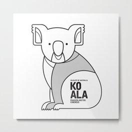 Koala, Wildlife of Australia Metal Print