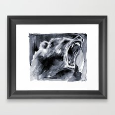 Mighty Grizzly Framed Art Print