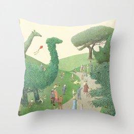 The Night Gardener - Summer Park Throw Pillow