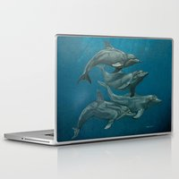 dolphins Laptop & iPad Skins featuring Dolphins by Beckyliv