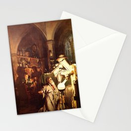 Joseph Wright of Derby - The Alchemist Discovering Phosphorus Stationery Cards