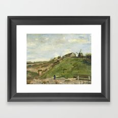 Van Gogh - The hill of Montmartre with stone quarry Framed Art Print