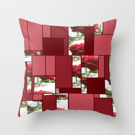 Red Rose with Light 1 Art Rectangles 8 Throw Pillow