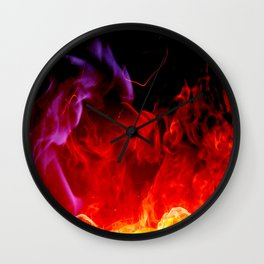The Golden Flame Wall Clock