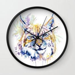 Bobcat Head Wall Clock