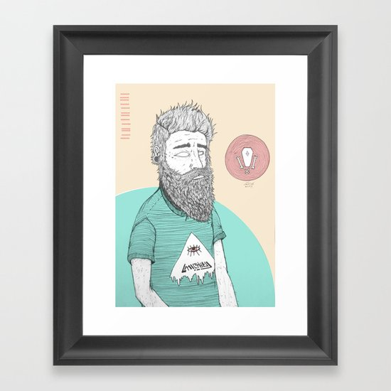 BEARDMAN Framed Art Print