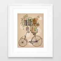 bicycle Framed Art Prints featuring Pleasant Balance by florever