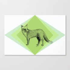 fox in forest Canvas Print
