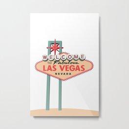 Las Vegas Welcome Sign Art Metal Print