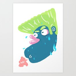 Chicken Farts Art Print