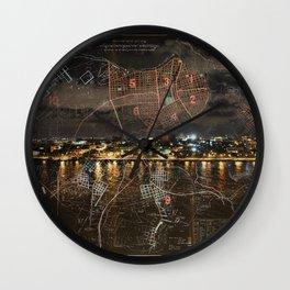 Overnight in Havana Wall Clock