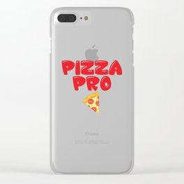 Pizza Pro Junk Food Lover Professional Foodie T-Shirt Clear iPhone Case