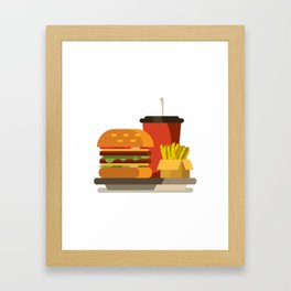 Cheeseburger Meal Framed Art Print
