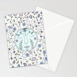 Chanson de la lune bleue Stationery Cards
