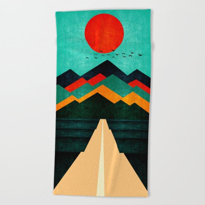 Sunny Day Beach Towel