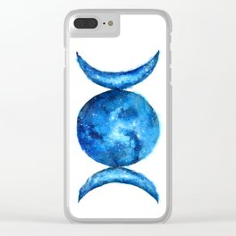 Triple Moon Goddess | Full Moon | Crescent Moon | Moon Phases Clear iPhone Case
