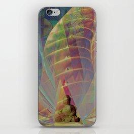 Buddha's Transparent Golden Lotus Cave iPhone Skin