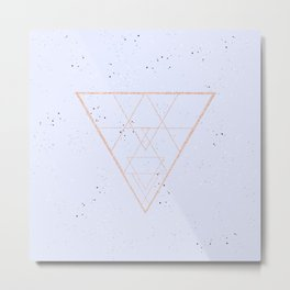 lilac speckled with rose gold triangle Metal Print