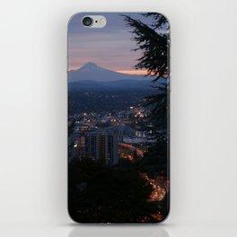 Mount Hood over Portland iPhone Skin