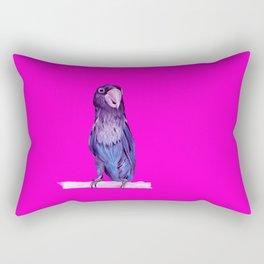 neon pink bird in the sky Rectangular Pillow