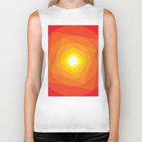 gradient Biker Tanks featuring Gradient Sun by Fimbis