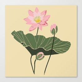 Lotos botanical illustartion Canvas Print