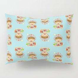 little boy & red crab Pillow Sham