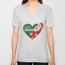 I Love XMAS Unisex V-Neck