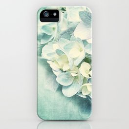MINT HYDRANGEA iPhone Case