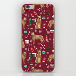 Australian Cattle dog christmas presents stockings candy canes winter dog breed lover iPhone Skin