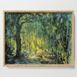 Weeping Willow by Claude Monet Serving Tray