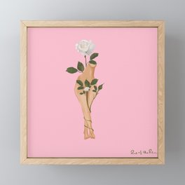 Cuerpo de flores Framed Mini Art Print