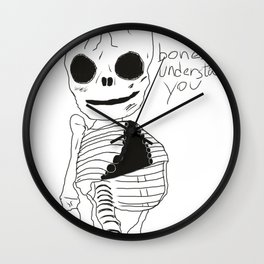 bonesy understands you  Wall Clock