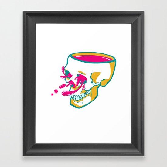 Liquid thoughts:Skull Framed Art Print