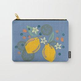 Lemon Twist, Blue Carry-All Pouch