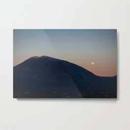 Lauria - Full moon sunrise Metal Print