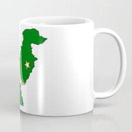 Pakistan Map with Pakistani Flag Coffee Mug