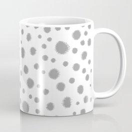 Grey spots dots minimal modern abstract painting Coffee Mug