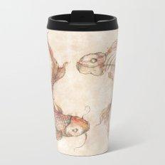 Yin Yang Fish Metal Travel Mug