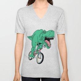 BMX Dinosaur Trex Bike Bicycle Shredder Kids Men Women Unisex V-Neck