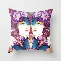 nouveau Throw Pillows featuring Nouveau by Kundalini Arts